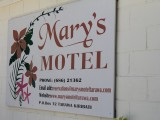 Mary's Motel Tarawa - Sign