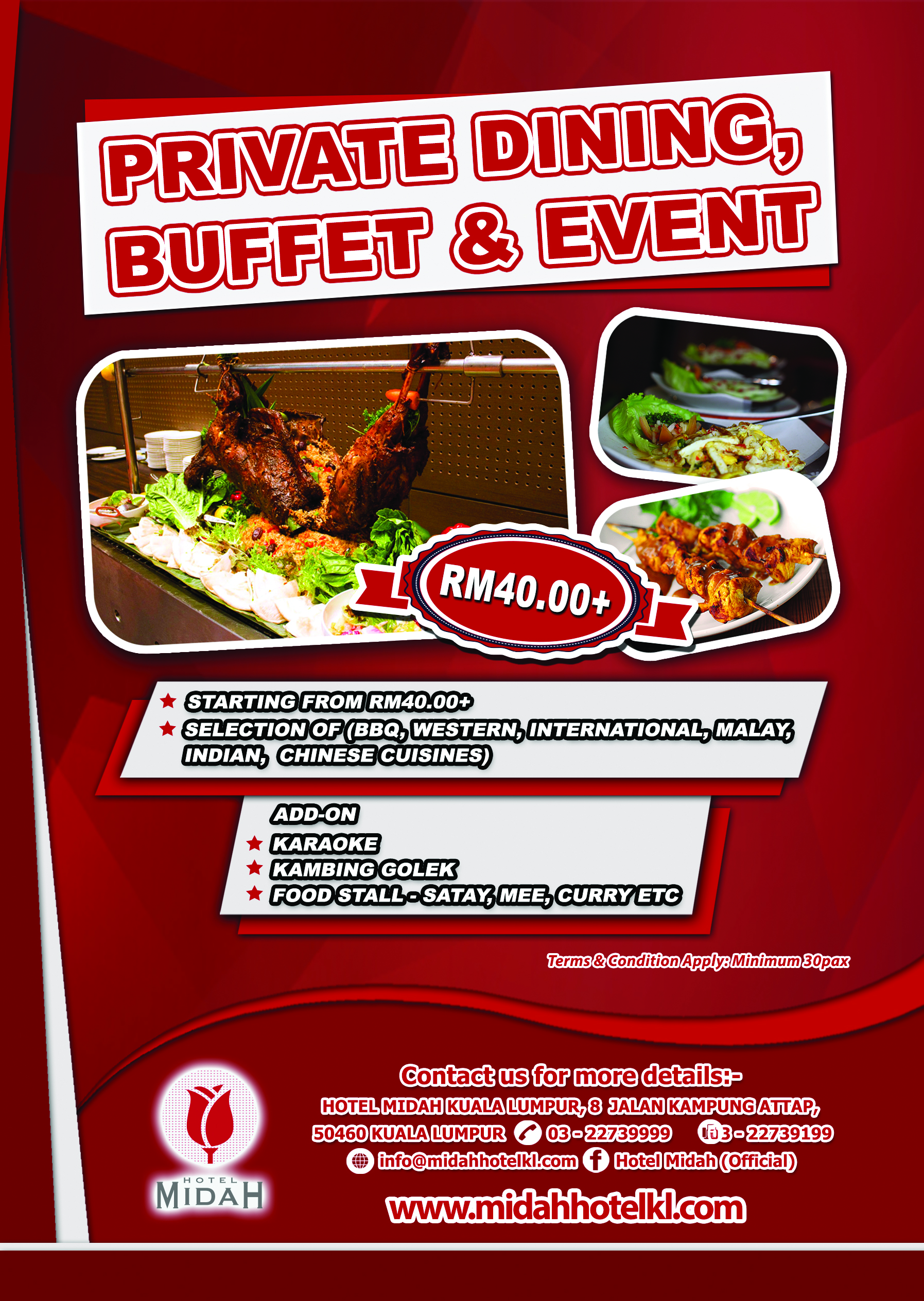 Private Dining Buffet & Event Package