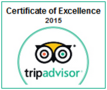 Tripadvisor Certificate of Excellence - 2015