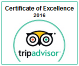 Tripadvisor Certificate of Excellence - 2016