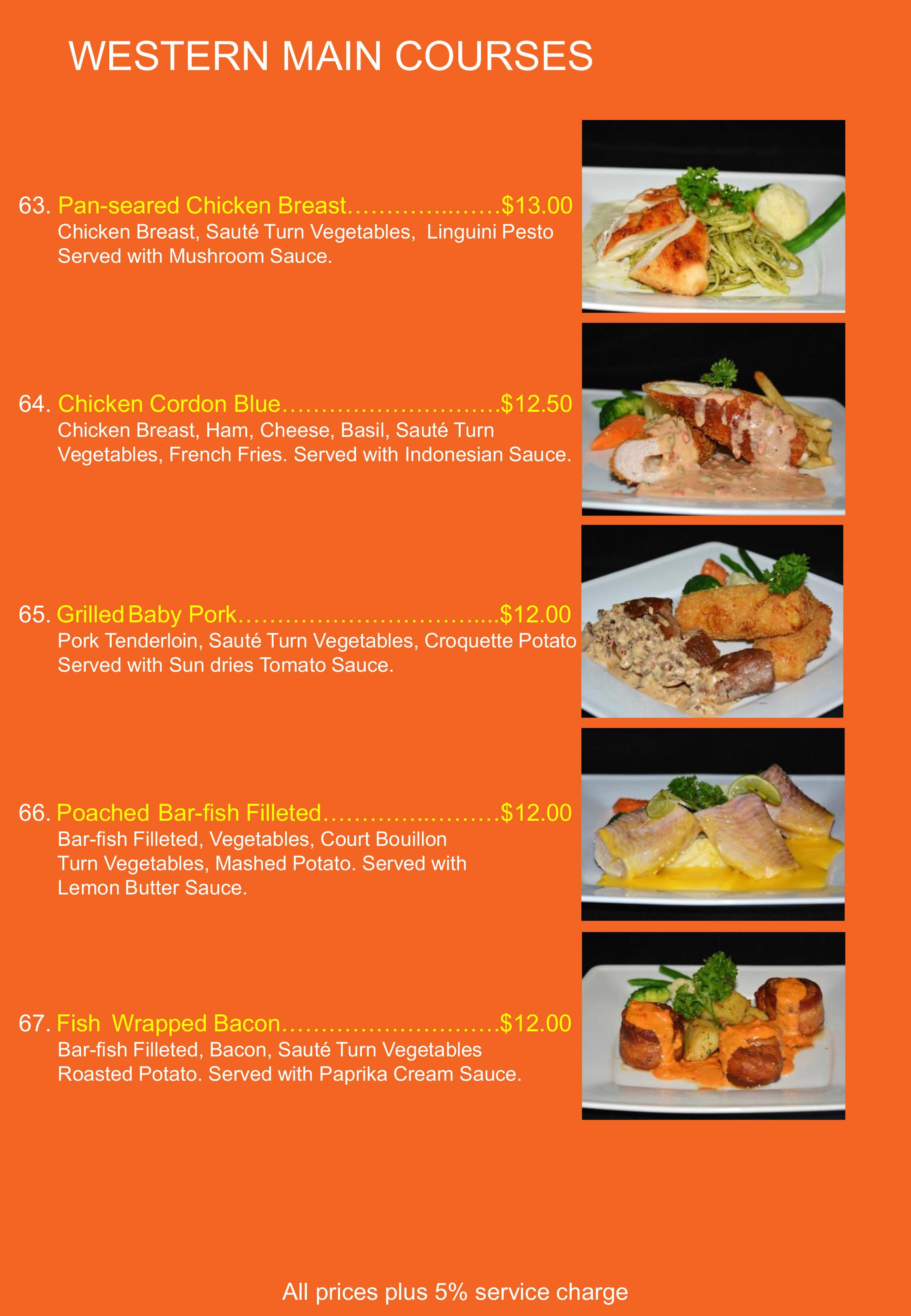 Lovely Restaurant Menu List