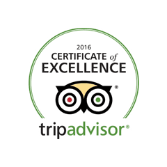 TripAdvisor Certificate of Excellence 2016 | Hotel Middle Path