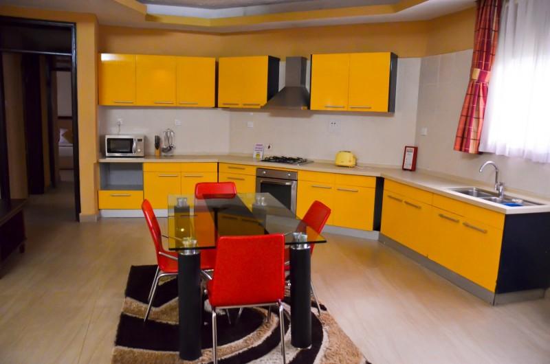 the bridal suite kitchen