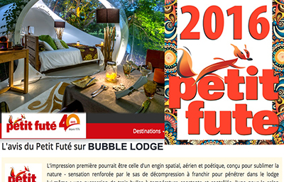 Le Petit Futé - Bubble Lodge