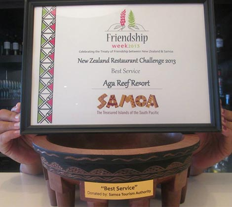 Excellence Award 2013 - Aga Reef Resort