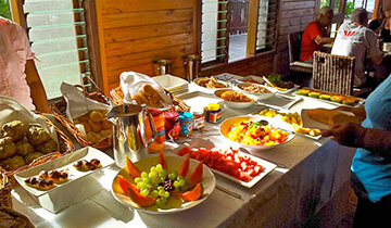 Breakfast Buffet at Aga Reef Resort - Samoa