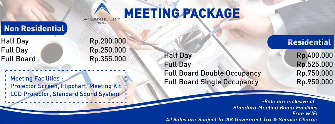 Meeting Package Atlantic City Hotel Bandung