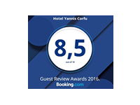 Booking.com Award Hotel Yannis