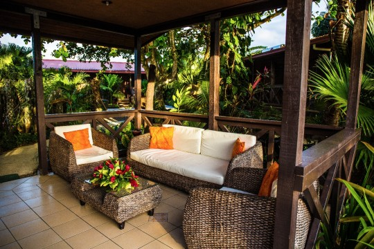 Private Seating Area | Eden's Edge Hotel | Apia, Samoa