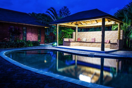 Pool at Night | Eden's Edge Hotel | Apia, Samoa