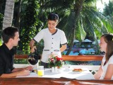 Serving coffee - Saigon Mui Ne Resort, Phan Thiet, Vietnam