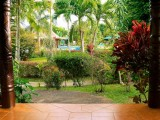 Poolside Villa Patio| Amoa Resort | Savaii, Samoa