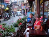 Terrace coffee, Legend Hotel, Sapa, Vietnam