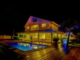 Exterior View at Night I Villa Confort I Praslin