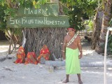 Welcome Sign - Santa Faustina Homestay - Kiribati