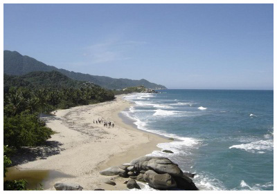 The Tayrona National Natural Park is a protected area in the Colombian northern Caribbean region at the foot of the Sierra Nevada.
