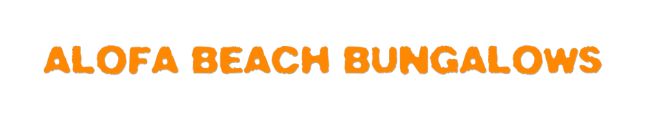Alofa Beach Bungalows - Logo Full