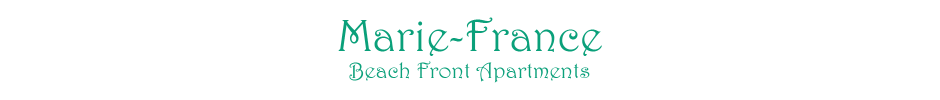 Marie-France Beach Front Apartments - Logo Full
