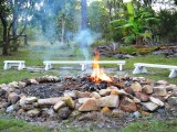 Campfire at Lovely Cottages Agnes Water 1770 Hotel Accommodation Retreat The Lovely Cottages