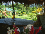 Fare and BBQ at pool side | Les Cottages de Bellevue Ecolodge | Port Vila, Vanuatu