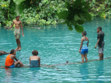Playing at the Blue Hole | Les Cottages de Bellevue | Vanuatu