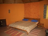 Chalet queen bed | Lake Point Guest House | Lake Bosumtwi | Ghana
