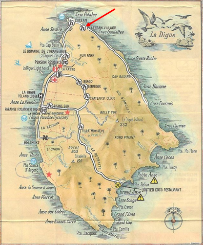 Map of La Digue