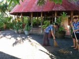 Using local Brooms, Keep Samoa Clean|Hotel Millenia