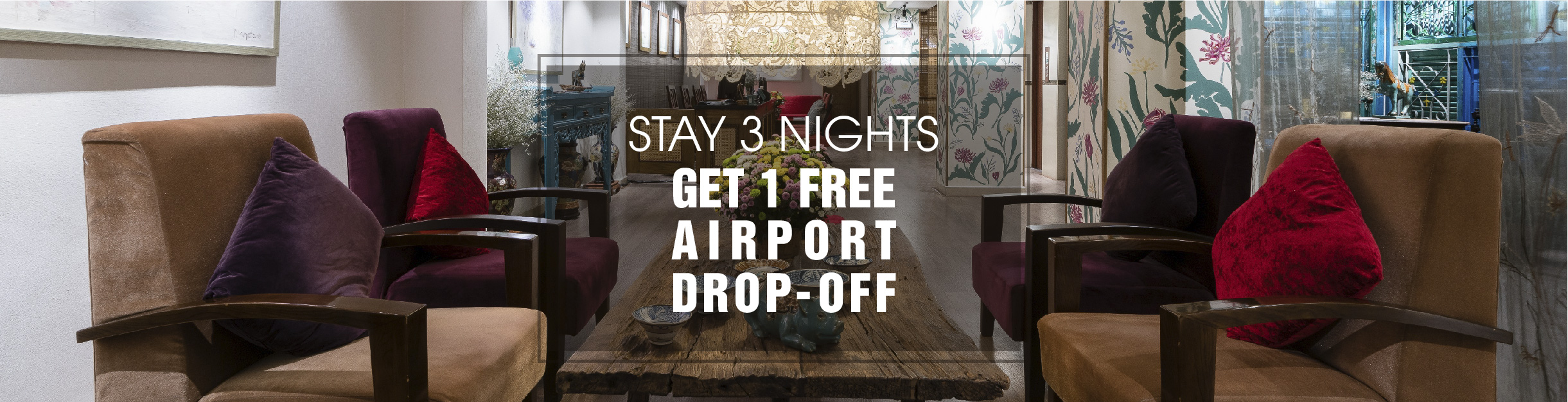Stay 3 consecutive nights get free drop-off