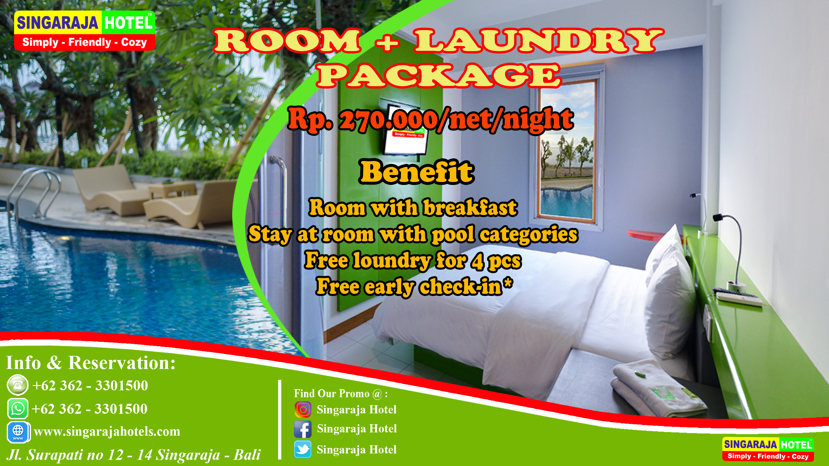 ROOM + LAUNDRY PACKAGE