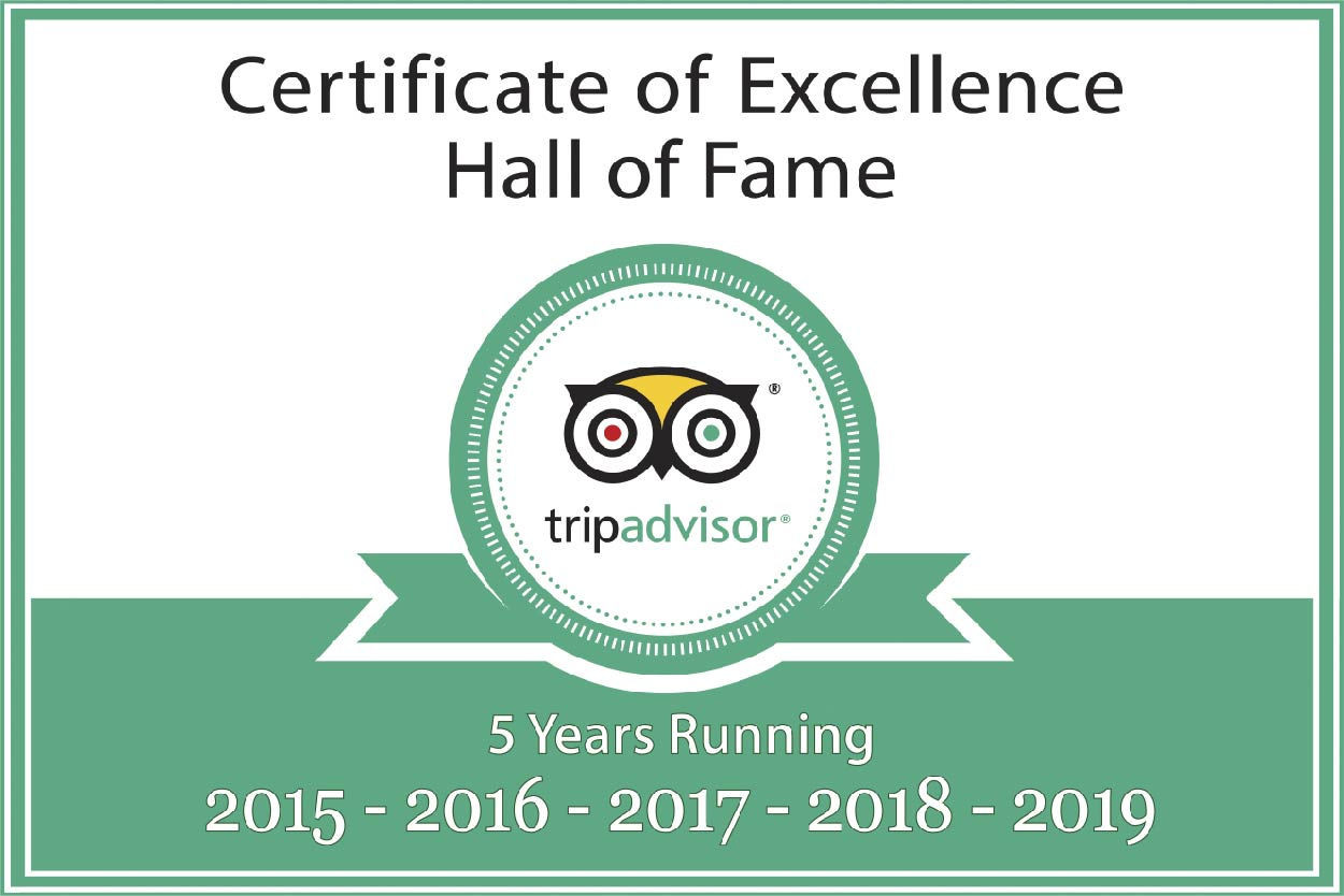 TripAdvisor certificate for Anpha Boutique Hotel