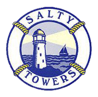 Salty Towers Ocean Front Cottages - Logo Full