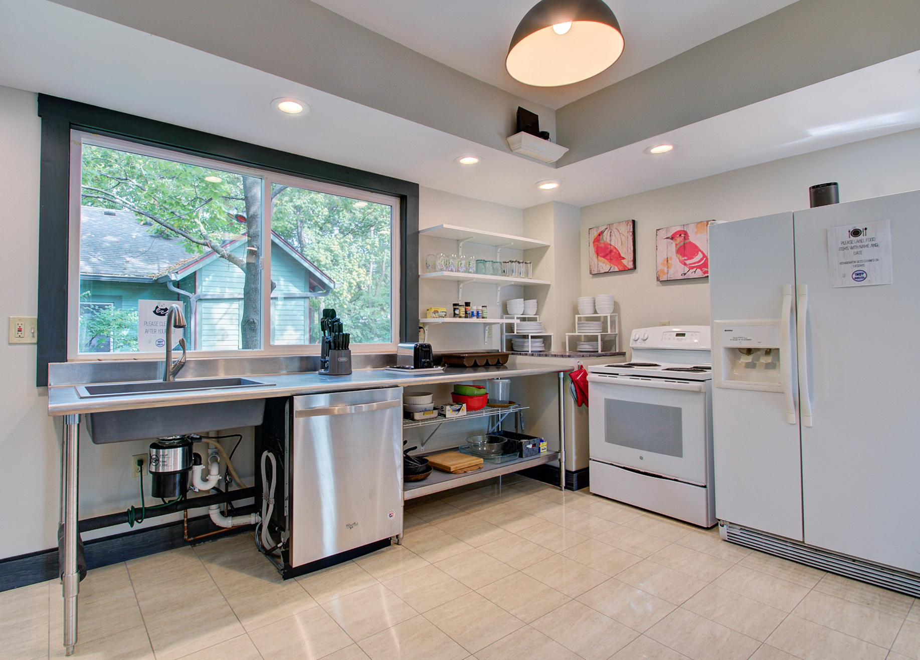 One of the two full kitchens available for full house rental