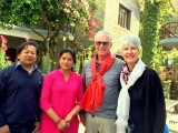 Welcoming Guest | Mum's Garden Resort | Pokhara Nepal