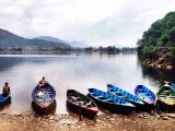 Boats ready to explore Fewa Lake