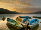 Boats in Fewa Lake | Pokhara, Nepal