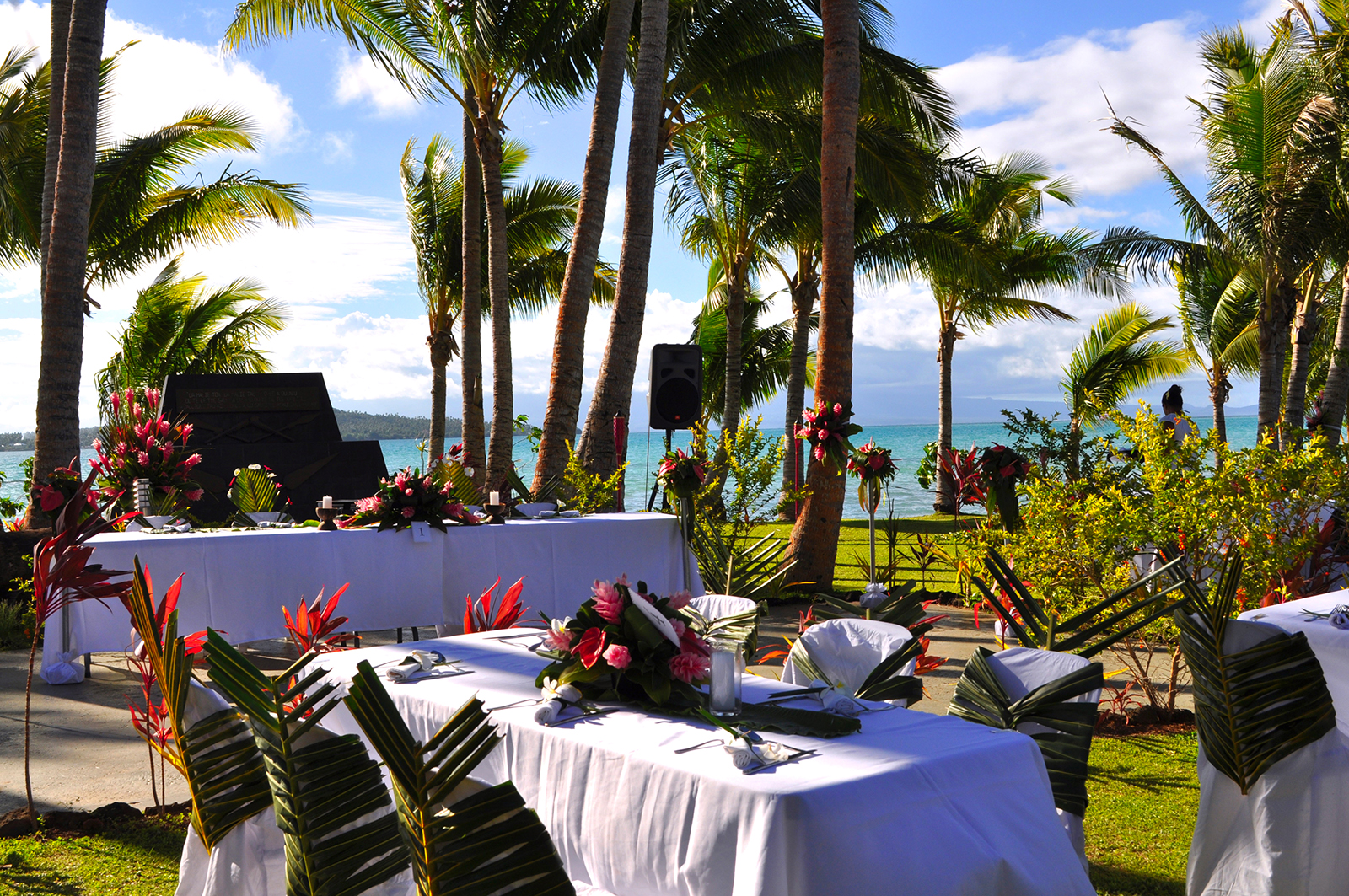 Malietoa Wedding table set up