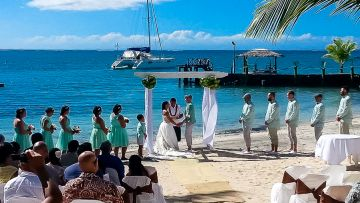 Wedding Beach Vaimoana Ceremony